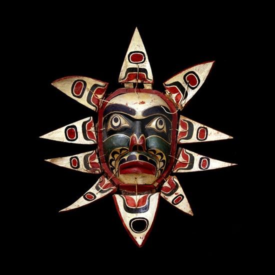 Charlie James, Kwakiutl Artist. Sun Mask